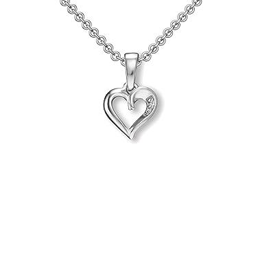 Damen Halskette echt 925 Sterling Silber Rose gold Zirkonia Collier Brilliant
