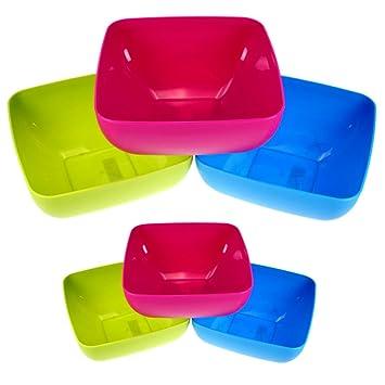 3er Set Schüssel rund 4 Liter Plastikschüssel Kunststoffschüssel Rührschüssel