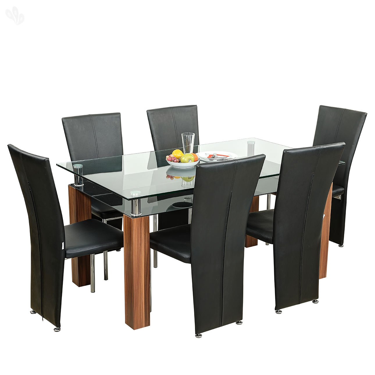 Royal Oak Barcelona Dining Table Set (Black And Brown): Amazon.in: Home U0026  Kitchen