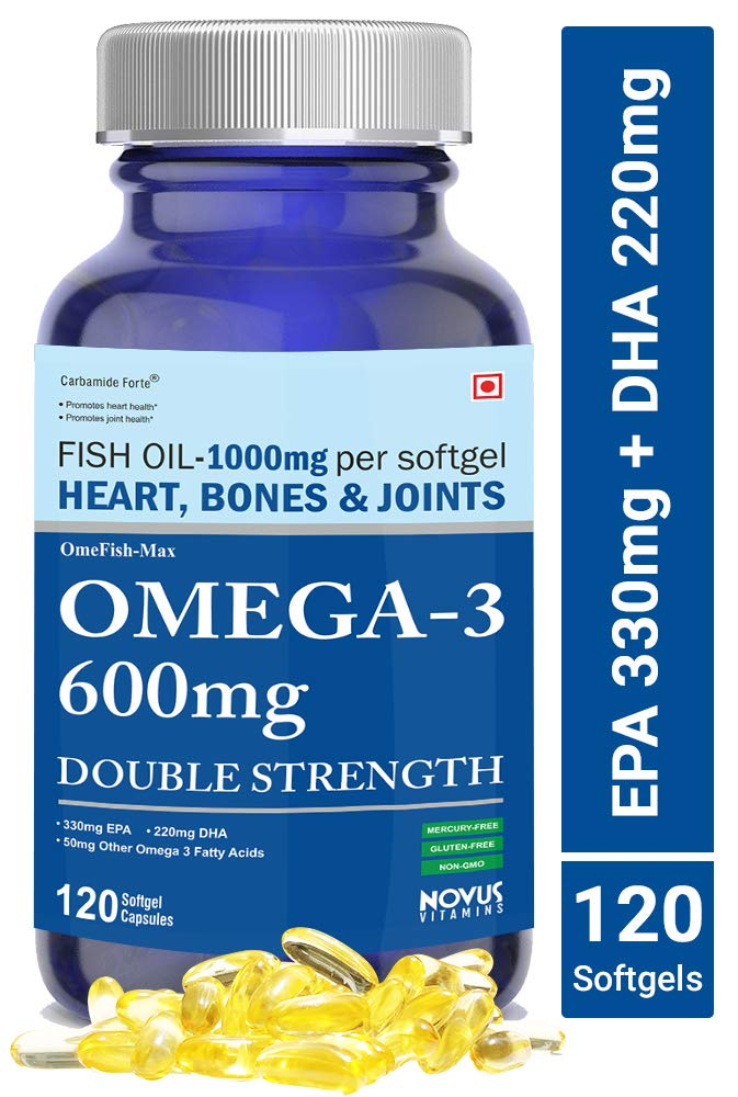 Carbamide Forte Omega 3 Fish Oil 1000mg Double Strength (330mg EPA & 220mg DHA) - 120 Softgels product image
