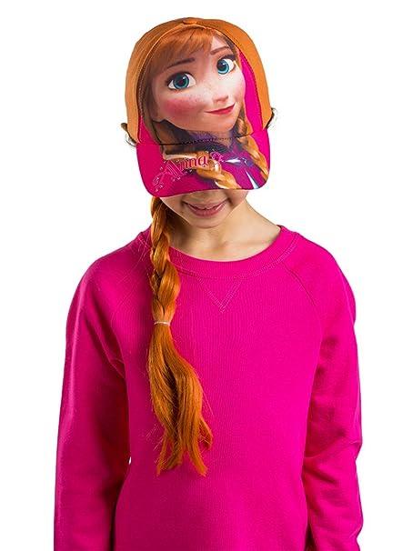 Disney Frozen Anna Niñas Gorra De Béisbol disfraz de peluca de pelo con sombrero: Amazon.es: Ropa y accesorios