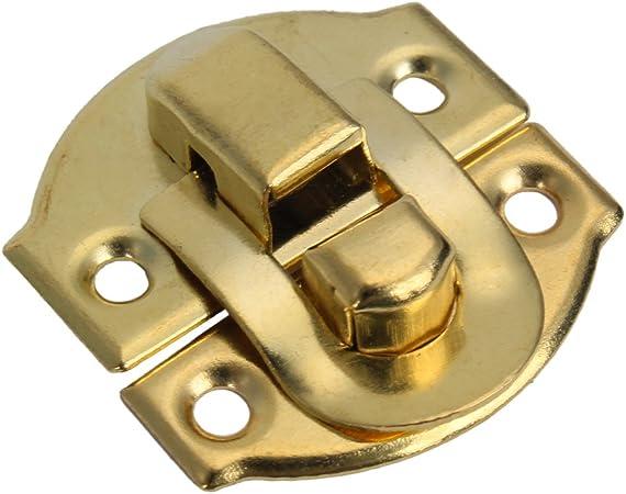 REFURBISHHOUSE Gelb Mini Spannverschluss Buckle Schnappverschluss fuer Schraenkchen Schublade