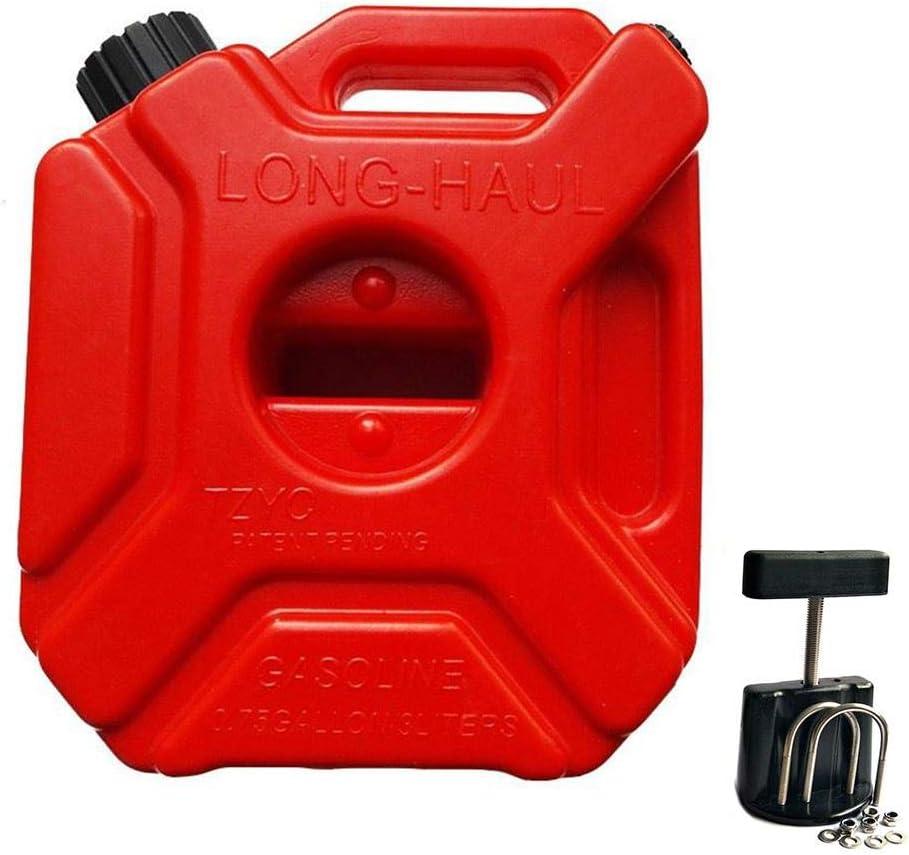 Yunhigh Bidón Gasolina 5L con Soporte Fijo Jerry Can Espesado antiestático de Alta Resistencia de plástico Coche Barril de Combustible Combustible Puede contenedor de Almacenamiento Cubo de bidón