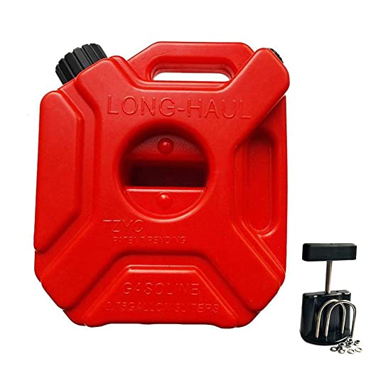 runnerequipment Depósito de Gasolina Plástico Depósito de Gasolina Tambor de Aceite del Coche 5 litros Antiestático Plástico de Gasolina Barril Gas ...