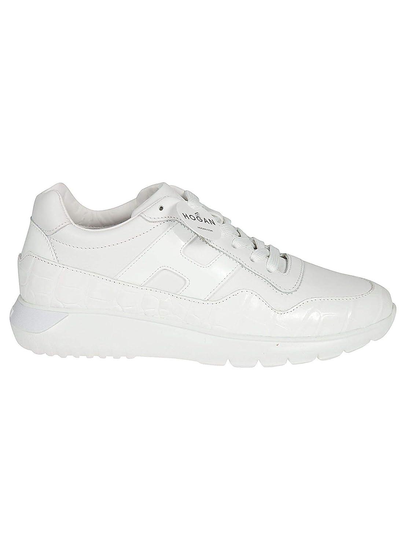 - Hogan Women's HXW3710AP21KL9B001 White Leather Sneakers