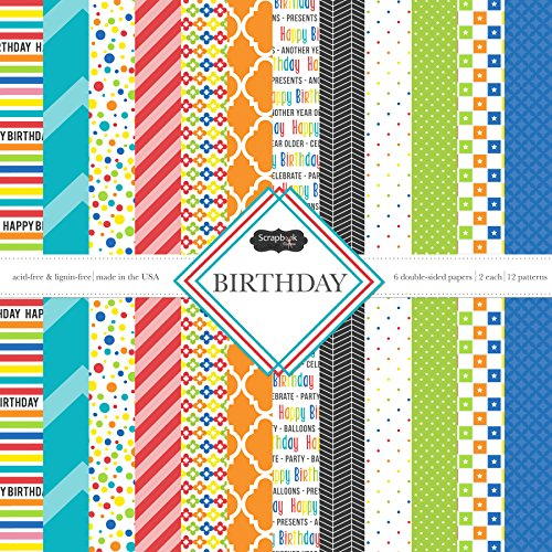 Scrapbook Customs Themed Paper Scrapbook Kit, Birthday by Scrapbook Customs