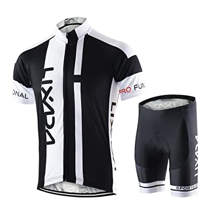 Lixada Men s Cycling Jersey Set Breathable Quick-Dry Short Sleeve Biking  Shirt with 6D Padded 9e63d6b73