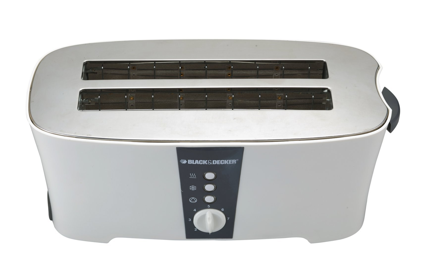 Black & Decker ET124 1350W 4-Slice Toaster (Non-USA Compliant), White by BLACK+DECKER (Image #2)
