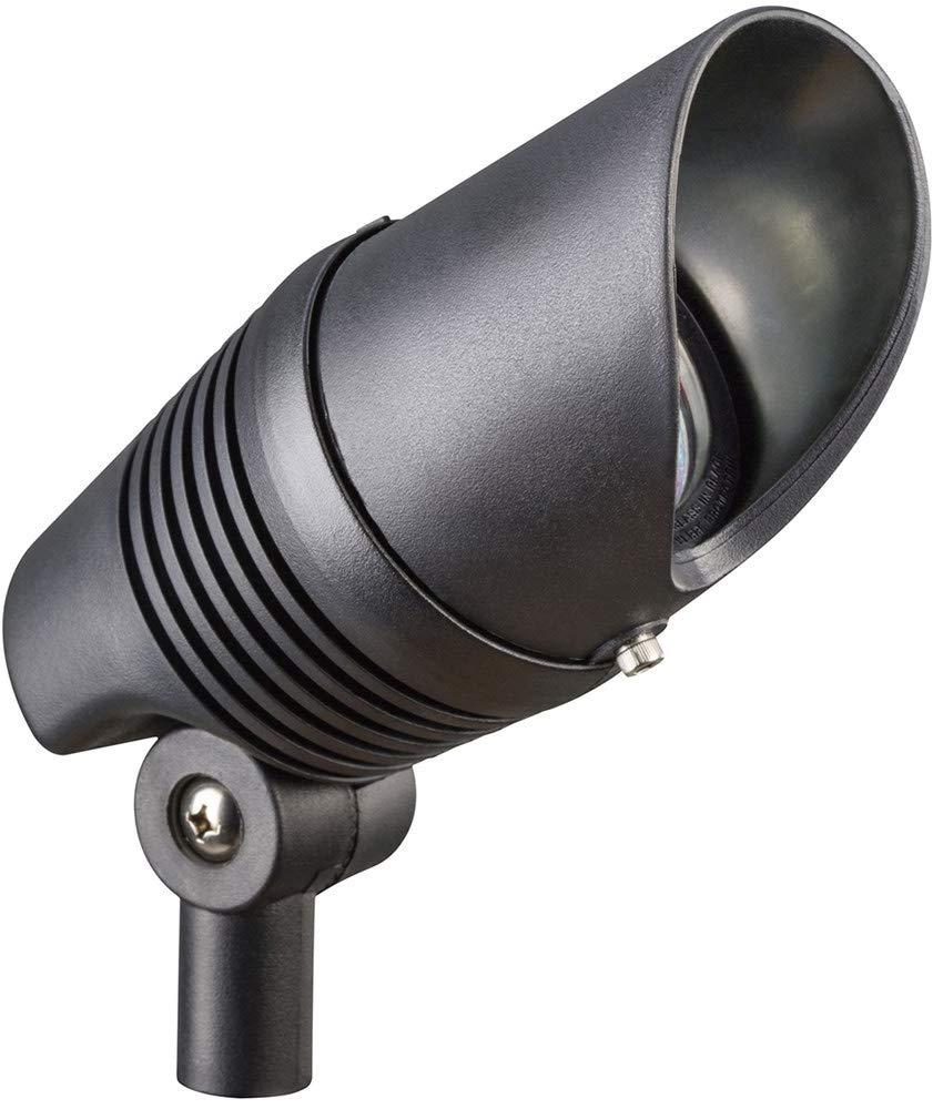 Kichler 15382BK Accent 1-Light 12V, Black Material (Not Painted)