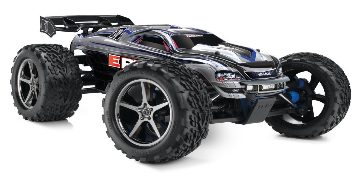 Buy Traxxas E Revo 1 10 Scale 4wd Electric Racing Monster Truck With Tqi 2 4ghz Radio And Tsm Silver Online At Low Prices In India Amazon In