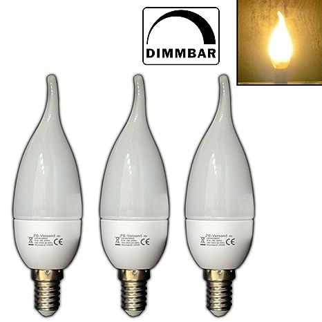 Pack de 3 LED Vela 3 W E14 vela Llama Llama luz bombilla foco lámpara de