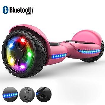 RCB Hoverboard Patinete Eléctrico Autoequilibrio Smart Scooter para Adultos Niños-UL2272 Certificado de Seguridad con Luces LED