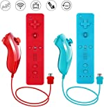 Lactivx Nunchuck and Wii Remote Controller with Silicone Case and Strap