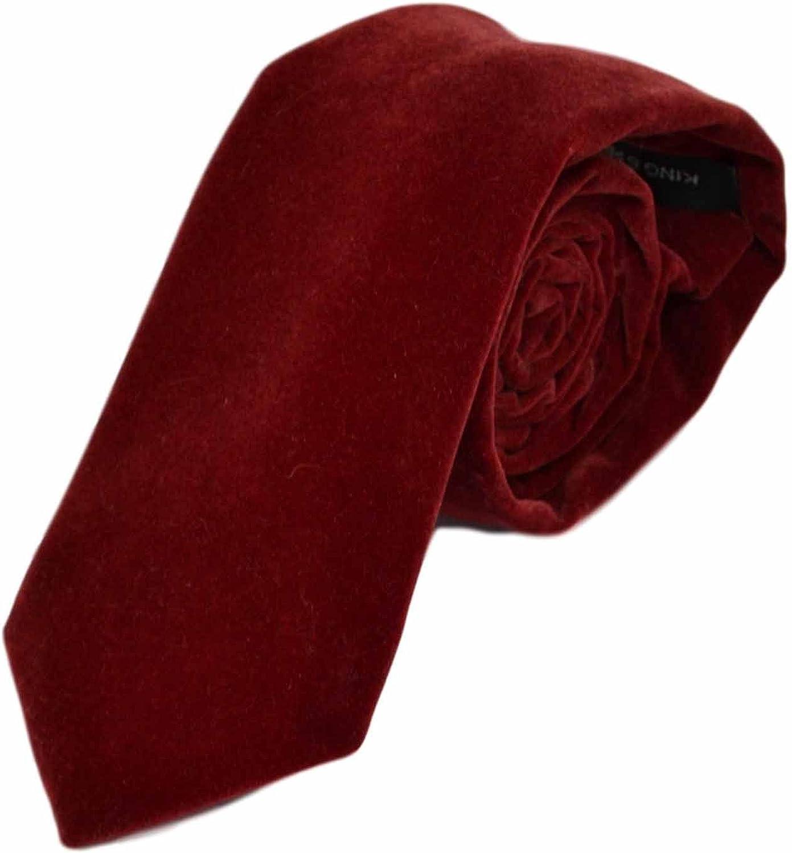 King & Priory Corbata Roja Oscura de Terciopelo: Amazon.es: Ropa y ...