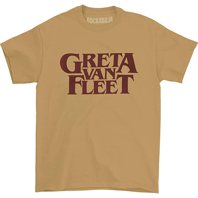 finest fabrics baby choose latest Greta Van Fleet Men's Old Gold Logo T-Shirt Gold