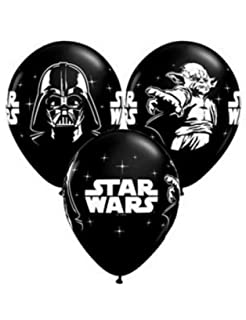 QUALATEX - Globos Mini Star Wars, Color Negro, Talla 13 cm ...