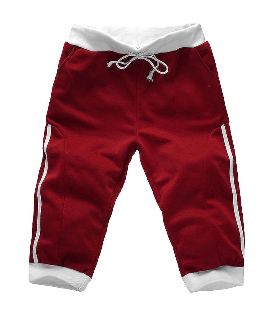 Clardy Mens Skinny Jogging Shorts Sport Pants
