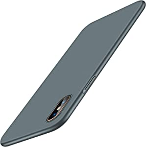 TORRAS Slim Fit Compatible with iPhone Xs Max Case 6.6 Inch, Ultra Thin Silky Soft Touch Hard Plastic Matte Finish Grip Minimalism Protective Phone Case Designed for iPhone Xs Max, Midnight Green