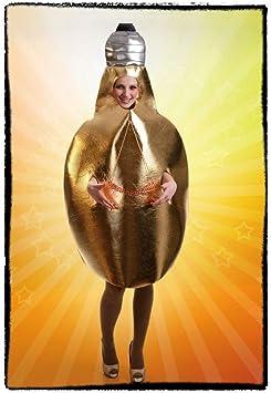 Disfraz de Bombilla Amarilla de luz para adultos: Amazon.es ...