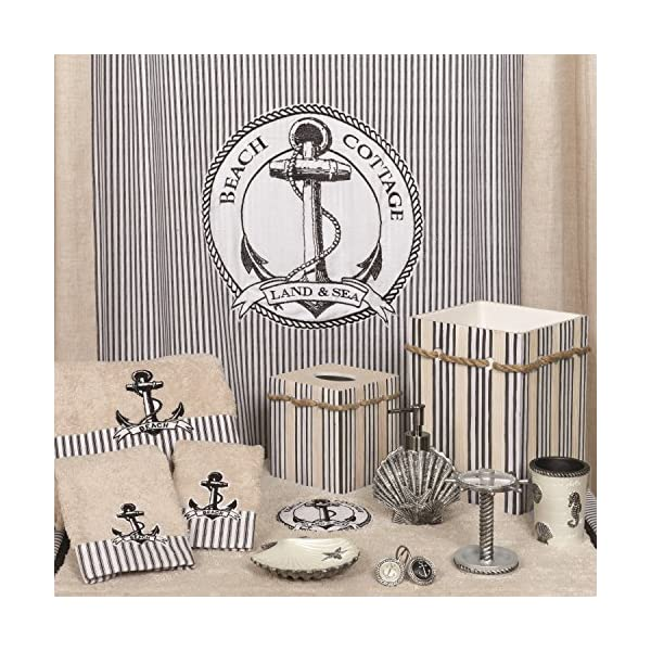 ZPC Zenith Products Corporation Zenna Home India Ink Beach Cottage Hand Towel,