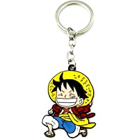 One Piece Keychain, Cartoon Anime Zinc Alloy Keychains, Gifts for Women, Men, Girls and Boys