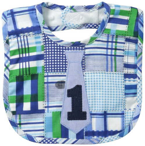 Mud Pie Baby-Boys Newborn I Am One Tie Bib, Multi, One Size -