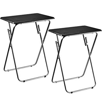 Aingoo 2 Tables Pliante Table de Jardin Table de pique-nique TV ...