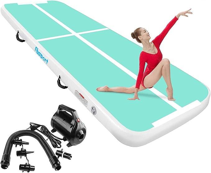 FBSPORT Pista de Aire para Gimnasia 3 m de Longitud Airtrack Colchoneta Inflable, Inflable Tumbling Gymnastic de Entrenamiento Alfombrillas para Gimnasio/Yoga/Entrenamiento/niños/Deportes: Amazon.es: Deportes y aire libre