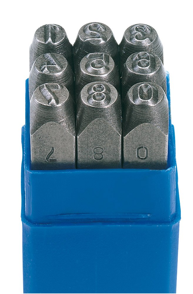 Draper 37336 0-9 Number Stamp Set, Blue, 1/8 Inch Hand Tools Other Tools