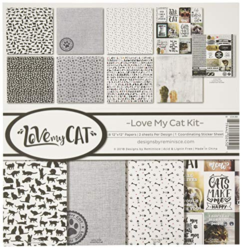 Reminisce (REMBC) LCA-200 Love My Cat Scrapbook Collection Kit, Multi Color Palette