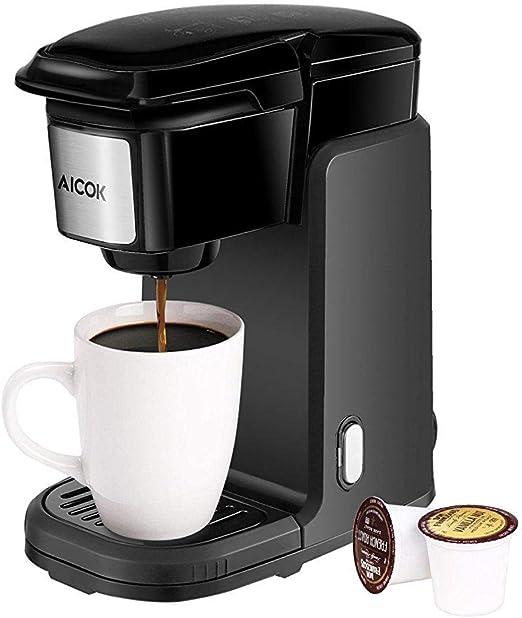 Aicok - Cafetera eléctrica monodosis, con cubierta extraíble, para ...