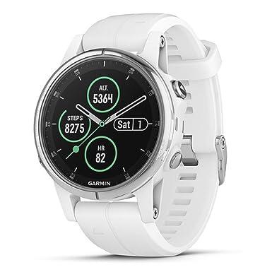 Garmin fprisnix 5S Plus - Reloj multideportivo Compacto con Música, mapas, y Garmin Pay