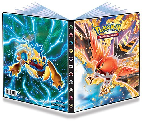 Ultra-Pro 4-Pocket Pokemon Card Binder featuring Talonflame and Galvantula (Album Holds 48-80 Cards)