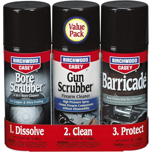 Birchwood Casey Gun Bore Scrubber and Barricade 1,2,3 Kit