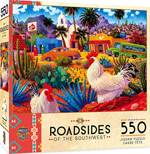 MasterPieces Roadsides of The Southwest Jigsaw Puzzle, Gallos Blancos, Featuring Art by Steven Morath, 550 Pieces