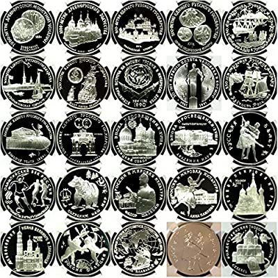 RU 1988 Russia USSR 1988-2009 Сomplete Set 203 Silver Coi PF 68-70 Ultra Cameo, also MS coins