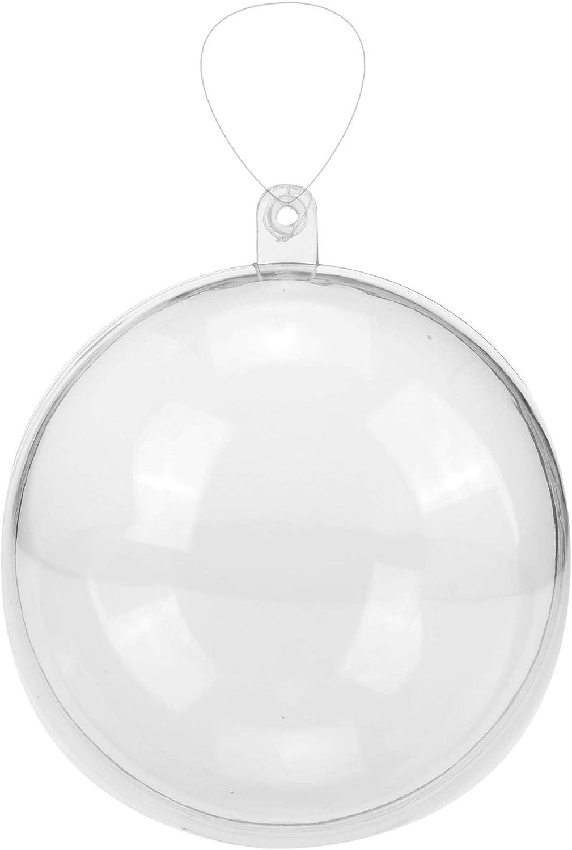 GLOREX Bola de plástico, plástico, Transparente, 16x 16x 16cm
