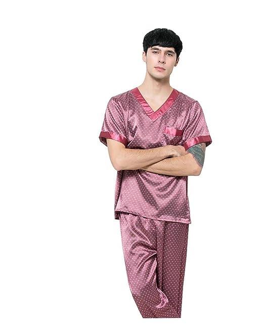 Pijamas De Los Hombres De Verano Largo De Tamaños Cómodos Lujo Sauna De Baño Ropa Albornoz Homewear Traje De Baño Ropa Informal Ropa: Amazon.es: Ropa y ...