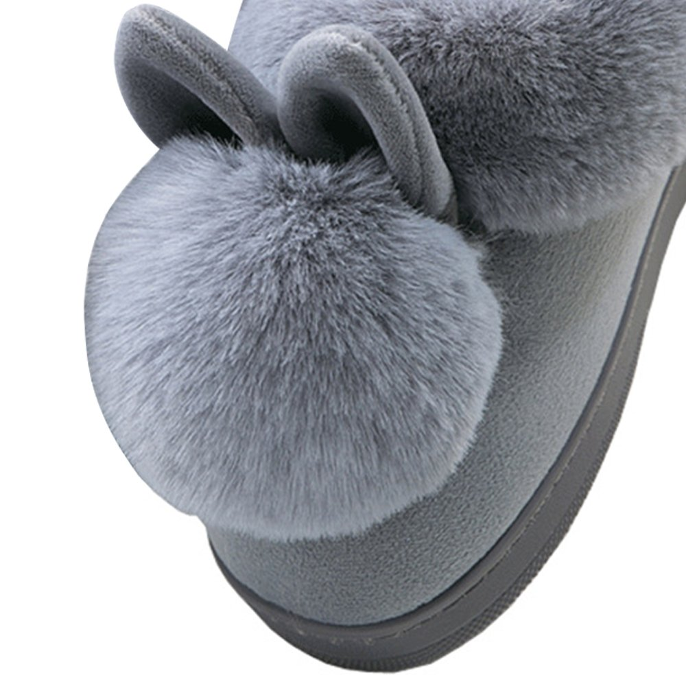 JACKSHIBO Womens Fur Home Casual Slippers,Soft Winter Warm Cute Cartoon House Slippers by JACKSHIBO (Image #3)