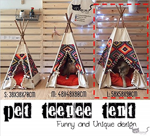 Pet Teepee Handmade Size L TP014_1234560023 Pet tepee, Dog tepee, Cat tepee, Cat bed, Dog bed, Dog tent, Cat tipi FREE pet toy for all purchase! Pet toy made from 100% cotton and handmade. It is for p