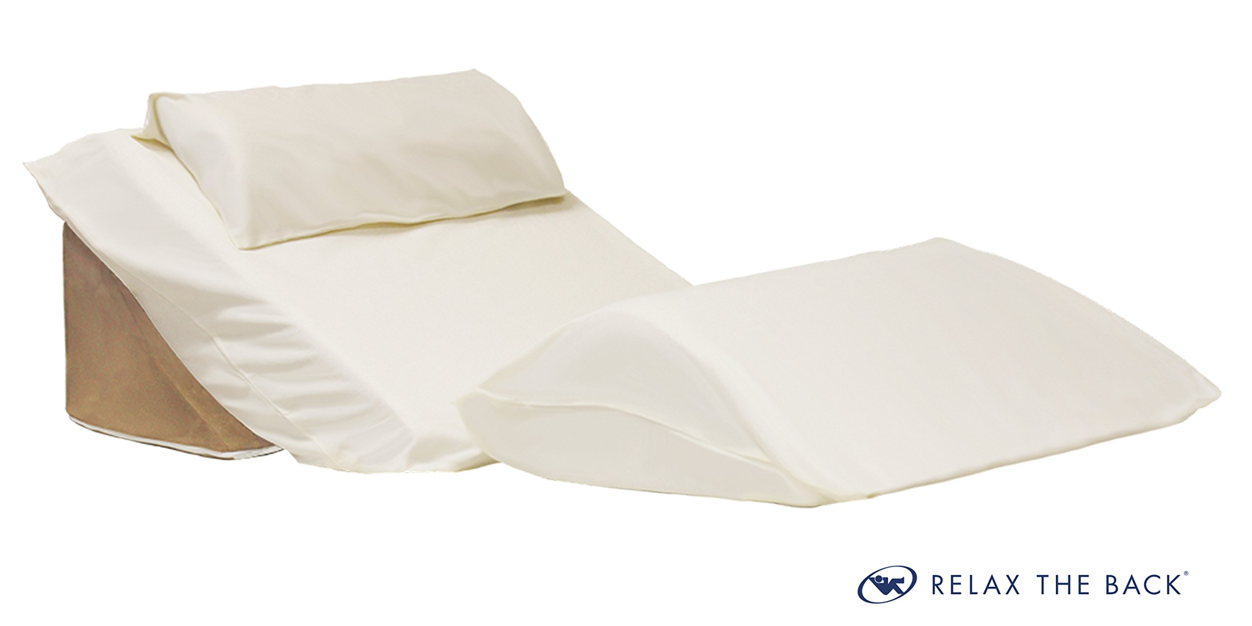 Relax The Back 3 Piece Bed Wedge Case Set (Covers Only Does not Include Wedge Pillows)