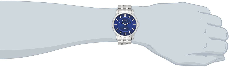 Amazon.com: Armitron Mens 20/4962BLSV Blue Sunray Dial Silver-Tone Bracelet Watch: Watches