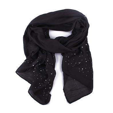 Echarpe noire à perles et strass Coindesfilles  Amazon.fr  Bijoux d19e4285d73