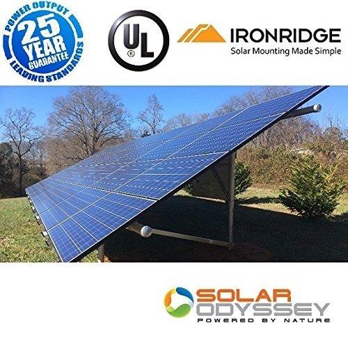 Grid Tie Solar System - 5000w 5kW Solar Panel Kit Grid-Tie and Ground Mount System 5000 Watt DIY