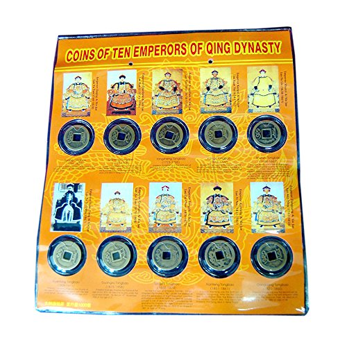 Jade Market Hong Kong Old Chinese Bronze Coins from 10 Different Emperors - Chinese Bronze Coin