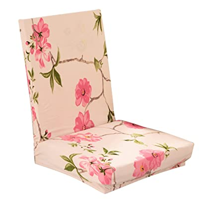 Generic Stretch Short Removable Dining Stool Chair Cover Slipcover Spring Flowers