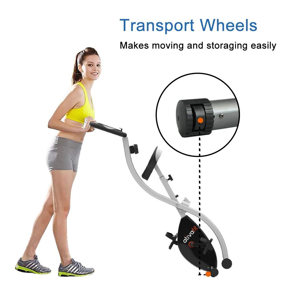 ATIVAFIT Indoor Cycling Bike Folding Magnetic Upright Bike Stationary Bike Recumbent Exercise Bike (Grey) by ATIVAFIT (Image #3)