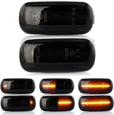 sinistro e destro con marchio E4 Indicatore di direzione a LED per parafango senza segnalazione di errore White Vision V-1707088 LIGHTDELUX V-1707088