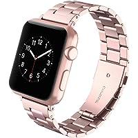 Gaishi Correa Reemplazable para Apple Watch 38mm y 40mm Series 1 2 3 4, Acero Inoxidable con Metal Corchete [ con Herramienta ], Oro Rosa