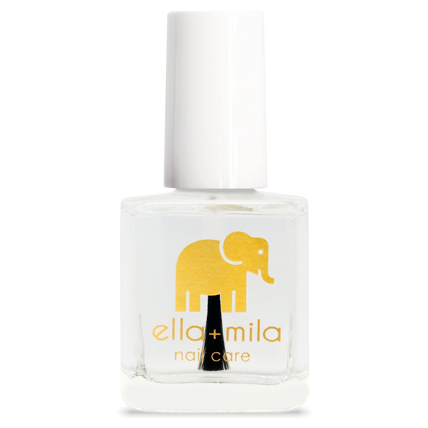 ella+mila Nail Care, Quick Dry Top Coat - In a Rush (high glossy shine, UV inhibitor which prevents yellowing) ella mila